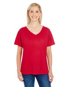 Ladies' Triblend Fleck Short-Sleeve V-Neck T-Shirt