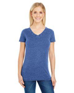 Ladies' Vintage Dye Short-Sleeve V-Neck T-Shirt