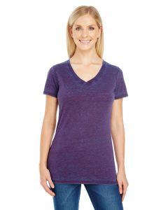 Ladies' Cross Dye Short-Sleeve V-Neck T-Shirt