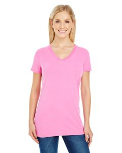 Ladies' Pigment-Dye Short-Sleeve V-Neck T-Shirt