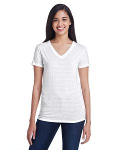 Ladies' Invisible Stripe V-Neck T-Shirt
