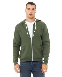 Unisex Poly-Cotton Fleece Full-Zip Hooded Sweatshirt