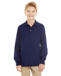 Youth SpotShield™ Long-Sleeve Jersey Polo