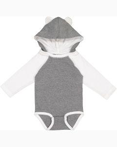 Infant Long Sleeve Fine Jersey Bodysuit With Ears