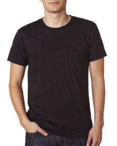 Adult 4.5 oz., 100% Ringspun Cotton nano-T® T-Shirt with Pocket
