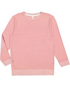 Adult Harborside Melange French Terry Crewneck with Elbow Patches