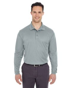 Adult Cool & Dry Long-Sleeve Mesh Piqué Polo
