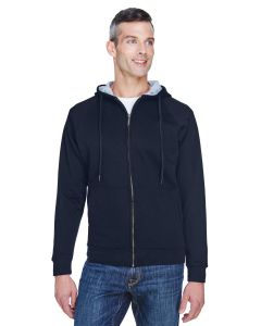 Adult Rugged Wear Thermal-Lined Full-Zip Fleece Hooded Sweatshirt