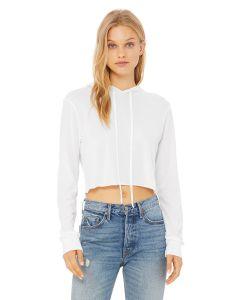 Ladies' Cropped Long Sleeve Hoodie T-Shirt