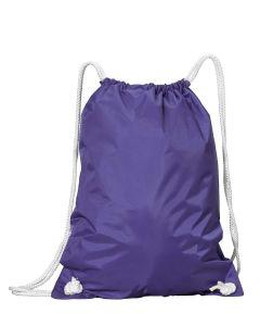 WhiteDrawstring Backpack