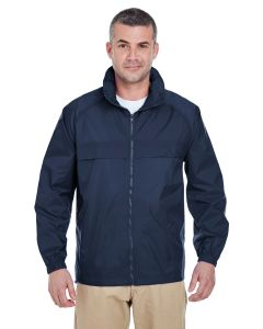 Adult Full-Zip Hooded Pack-Away Jacket