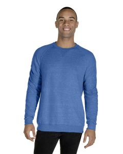 Adult 7.2 oz., Snow Heather French Terry Crewneck Sweatshirt