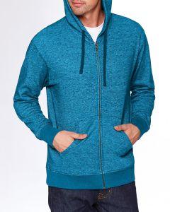 Adult Denim Fleece Full-Zip Hoodie