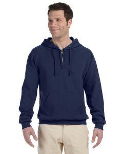 Adult NuBlend® Fleece Quarter-Zip Pullover Hooded Sweatshirt