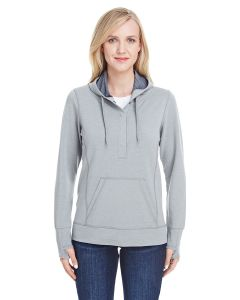 Ladies' Omega Stretch Snap-Placket Hooded Sweatshirt