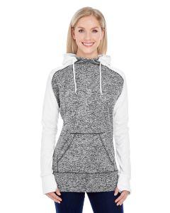 Ladies' Colorblock Cosmic Hooded Sweatshirt