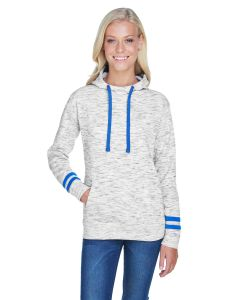 Ladies' Melange Scuba Neck Sweatshirt