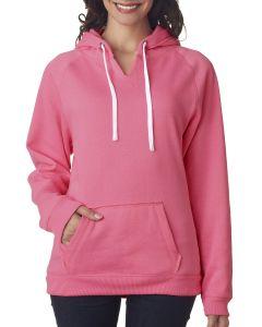 Ladies' Sydney Brushed V-Neck Hooded Sweatshirt