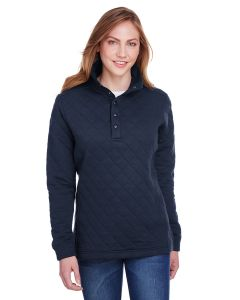 Ladies' Quilted Snap Pullover