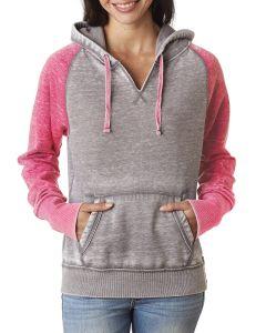 Ladies' Zen Contrast Pullover Hooded Sweatshirt