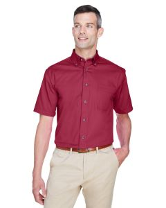 Men's Easy Blend™ Short-Sleeve Twill Shirt withStain-Release