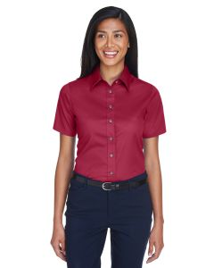 Ladies' Easy Blend™ Short-Sleeve Twill Shirt withStain-Release