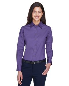 Ladies' Easy Blend™ Long-Sleeve Twill Shirt with Stain-Release