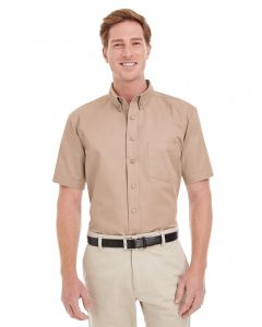 Men's Foundation 100% Cotton Short-Sleeve Twill Shirt with Teflon™