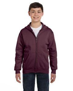 Youth EcoSmart® 50/50 Full-Zip Hooded Sweatshirt