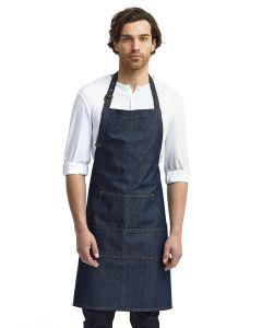 Unisex Jeans Stitch Denim Bib Apron
