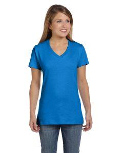 Ladies' 4.5 oz., 100% Ringspun Cotton nano-T® V-Neck T-Shirt