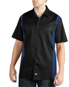 Men's Two-Tone Short-Sleeve Work Shirt